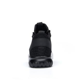 Semir 森马 117319615 男士飞织跑步鞋 黑色 40