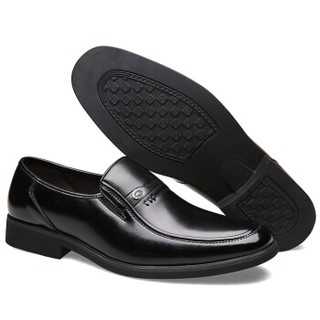 CARTELO 1068 男士套脚皮鞋 黑色 40