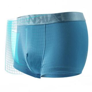 MARK FAIRWHALE 马克华菲 8100 男士平角裤 (3条装、XXL、中灰亮黑翠鸟绿)