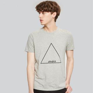 Markless TXA7662M 男士圆领短袖T恤 灰色 XXL