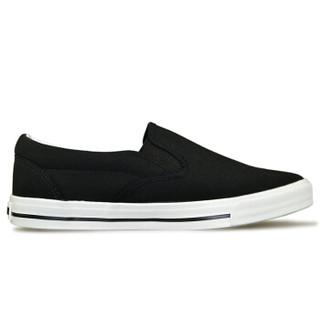 WARRIOR 回力 WXY-903 男士套脚帆布鞋 黑色 42