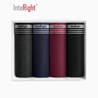 InteRight 男士时尚透气四角内裤4条盒装