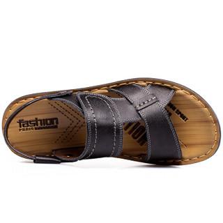 CARTELO L002 男士休闲凉鞋(黑色 42码)