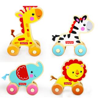 费雪婴儿早教玩具小小斑马推车1-3岁宝宝益智学步玩具FP1007 *4件