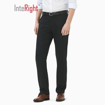 InteRight 男士抗皱快干商务休闲西裤