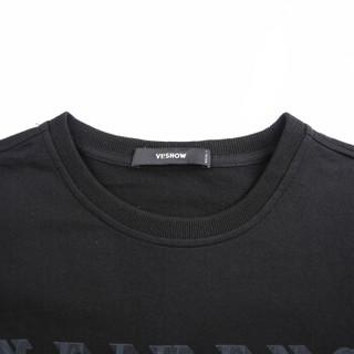 ViiSHOW TD1213182 男士圆领短袖t恤 黑色 L