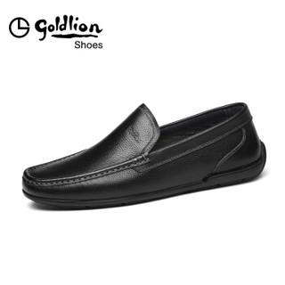 goldlion 金利来 511710131AJA 男士套脚休闲皮鞋 黑色 41