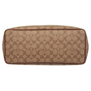 COACH 蔻驰 奢侈品 女士卡其色PVC单肩手提包 F57842 IME74