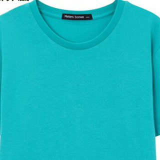 Meters bonwe 美特斯邦威 226250 男士净色圆领T恤 瀑布绿 175/96