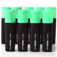 deli 得力 S600 荧光笔 (绿色、10支/盒)