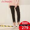 Kappa女款运动卫裤 针织长裤运动裤休闲BF风2018年新款|K0822AK80 279元