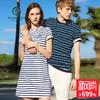 BEANPOLE滨波2018商场同款 女士夏季新品条纹连衣裙 BO8342C07 699元
