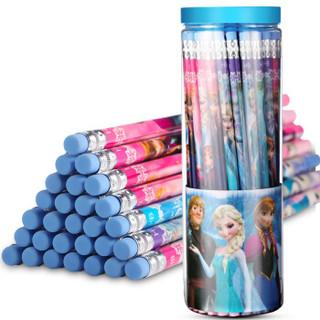 Disney 迪士尼 冰雪奇缘系列 E0047F 带橡皮头原木铅笔 (HB、50支/桶)