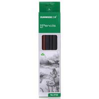 SUNWOOD 三木 5722 2B亚光漆三角杆铅笔 12支/盒 (2--12支、木质、铅笔)