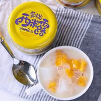爱斯曼 酸奶黄桃西米露罐头 210g*6罐 *3件