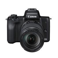 Canon 佳能 EOS M50(18-150镜头)微单相机(APS-C、2410万、黑色)