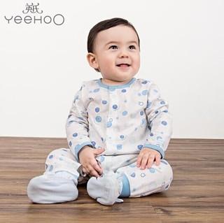 YEEHOO 英氏 174533  婴儿连体衣纯棉爬服 (蓝色、66cm)
