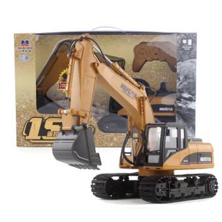 HUI NA TOYS 汇纳玩具 2.4G无线遥控挖掘机(可编程、黄色)