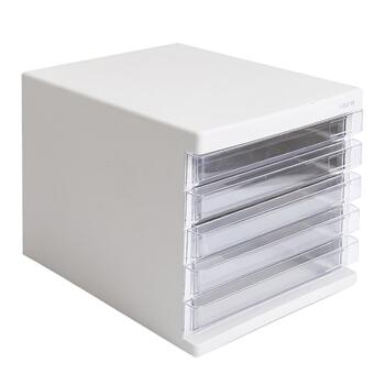 M&G 晨光 ADM95296 五层桌面文件柜资料柜收纳柜 灰色