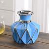Hoatai Ceramic 华达泰陶瓷 创意陶瓷插花花瓶摆件  矮款蓝