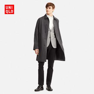 UNIQLO 优衣库 409338 男士风衣 (深灰色、175/100A(L))