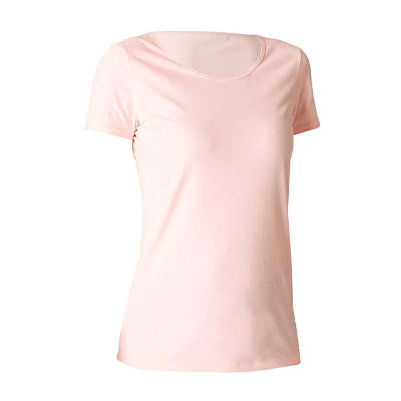 DECATHLON 迪卡侬 100系列 女士运动T恤 326551-863896 灰粉色