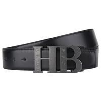 HUGO BOSS 雨果波士 green系列 50311829 003 男士牛皮革板扣式皮带 黑/白色 110码