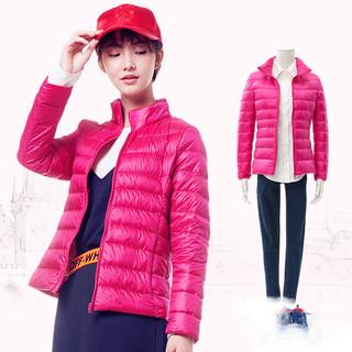 雅鹿 YS6101010 女士修身短款羽绒服 粉红 S