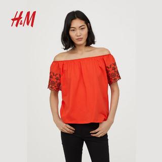 H&M  HM0613465 女士一字肩上衣