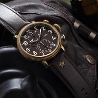 北京手表 复刻系列青铜军表复刻301计时码表复古机械男表 BG301001