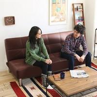赞居 SF-11 皮艺沙发床  棕色 1.65米