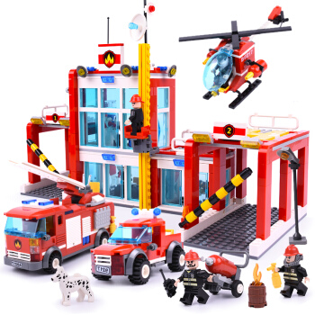 COODY 古迪 9217 消防总局模型 874片小颗粒