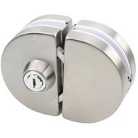 京东PLUS会员 : 赛拓(SANTO)0069 不锈钢玻璃门锁 双开门锁移门锁 *3件