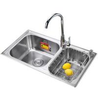 莱尔诗丹(larsd)LR7643厨房304不锈钢水槽双槽套餐 厨房洗菜池洗菜盆洗碗池