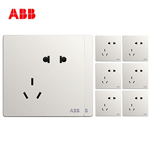 ABB  AF205 无框轩致五孔插座8只