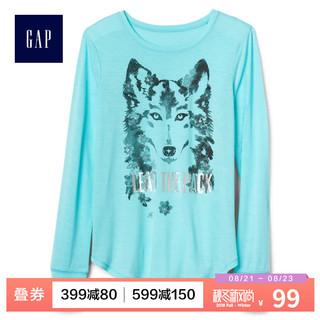 GAP 盖璞 Fit系列 929877 女童长袖T恤 (蓝色)