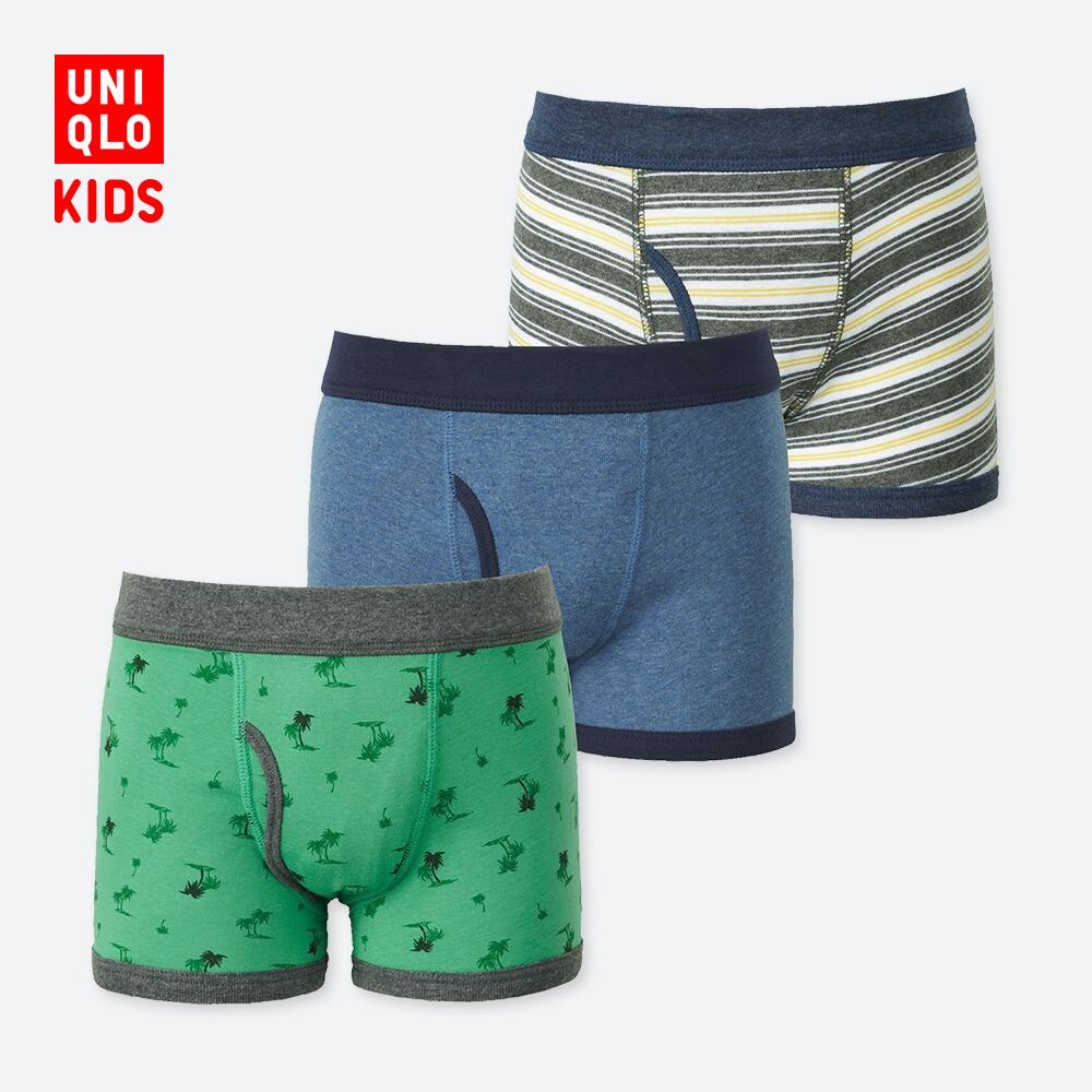 UNIQLO 优衣库 405463 男童短裤 3件装 (多色)