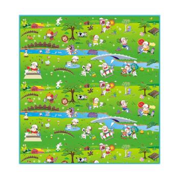 贝博氏爬行垫WTKT076贝乐宝运动会双面宝宝爬行垫爬爬垫泡沫防滑环保地垫游戏毯(2米*2米) *5件