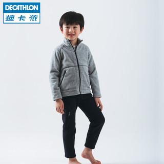 DECATHLON 迪卡侬 TRIBORD 儿童抓绒裤 (黑色)