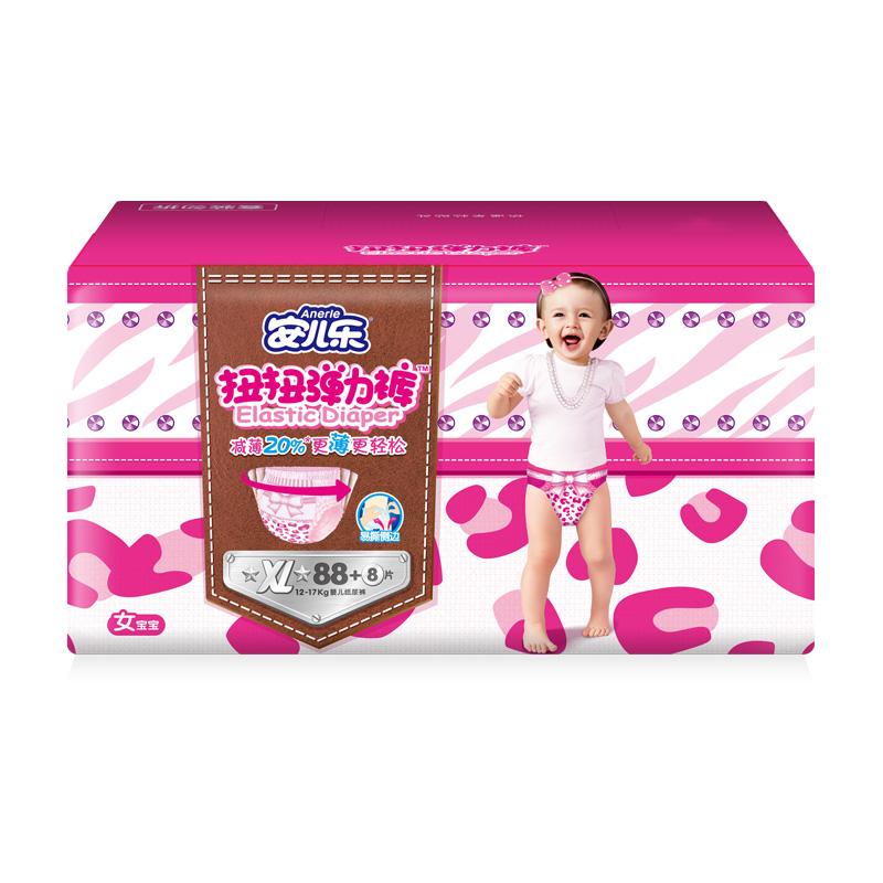 Anerle 安儿乐 扭扭系列 女宝宝弹力裤 XL96片