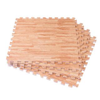 Meitoku 明德 木纹系列 PE泡沫爬行垫  仿木纹米色 60*60*1cm (4片装)