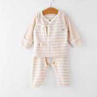 威尔贝鲁(WELLBER)婴儿内衣彩棉无骨缝基础款和尚服 宽条款52码 *3件