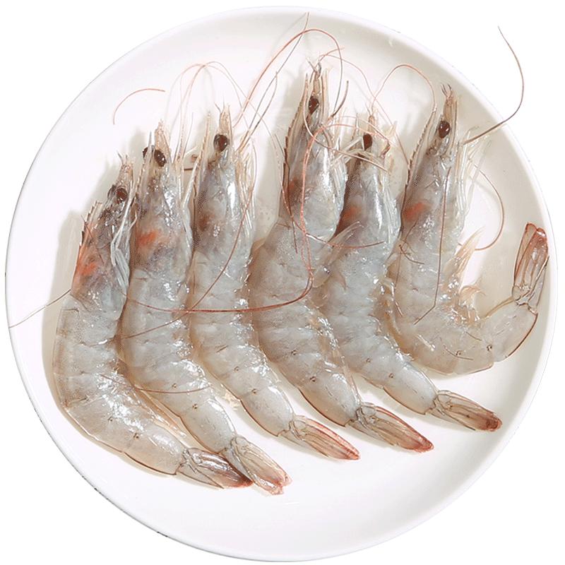 海鲜虾鲜活速冻大虾超大特大水产海虾对虾新鲜厄瓜多尔白虾冷冻