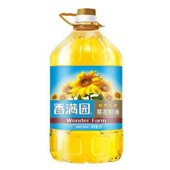 香满园 物理压榨 葵花籽油 5L
