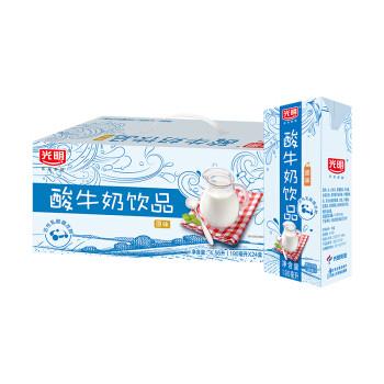 光明 酸奶酸牛奶饮品(原味)190ml*24盒 中华老字号