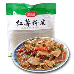 鲜窝窝 传统手工红薯粉皮 凉皮干货 火锅食材 炖粉 地瓜宽粉条 500g