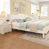 全友家居 韩式田园双人床 卧室家具组合人造板板式床套装120611 2099元