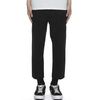 5cm 5厘米 6125U8A 男士工装休闲裤 (黑色、S)