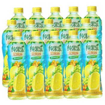 Tropicana 纯果乐 果缤纷 柠爽葡醉味 果汁饮料 500ml*15瓶 整箱装