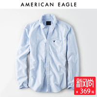 AMERICAN EAGLE OUTFITTERS 5153_1376 男士牛津衬衫 (青色、M、纯棉)